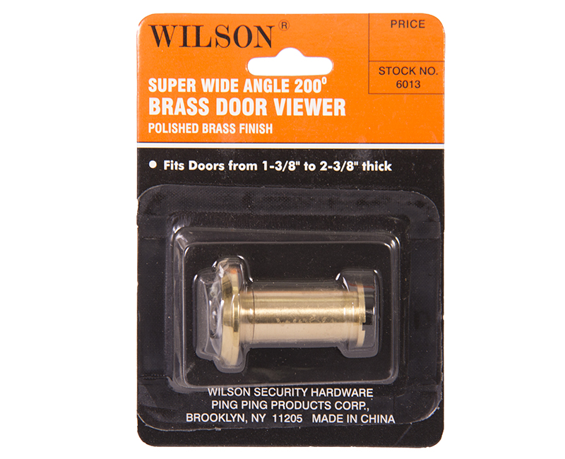 190 Door Viewer Solid Brass Carded US3