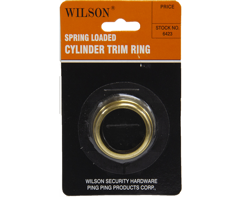 SPRING LOADED CYLINDER TRIM RING US3 CARDED