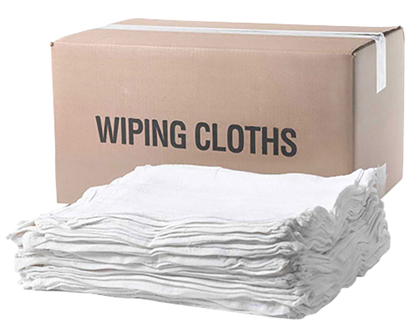 5 LB. Box Recycled White T-Shirt Rags